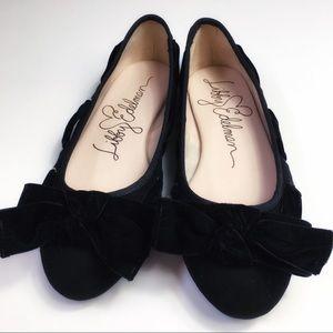 Libby Edelman Casey Black Ballet Flats, 8, NWOT
